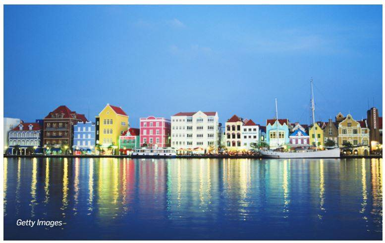 willemstad-curacao 彩色城市